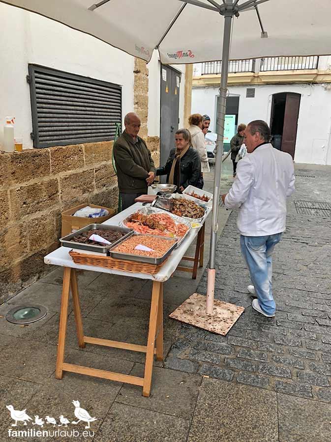Frische Meeresfrüchte in Cádiz