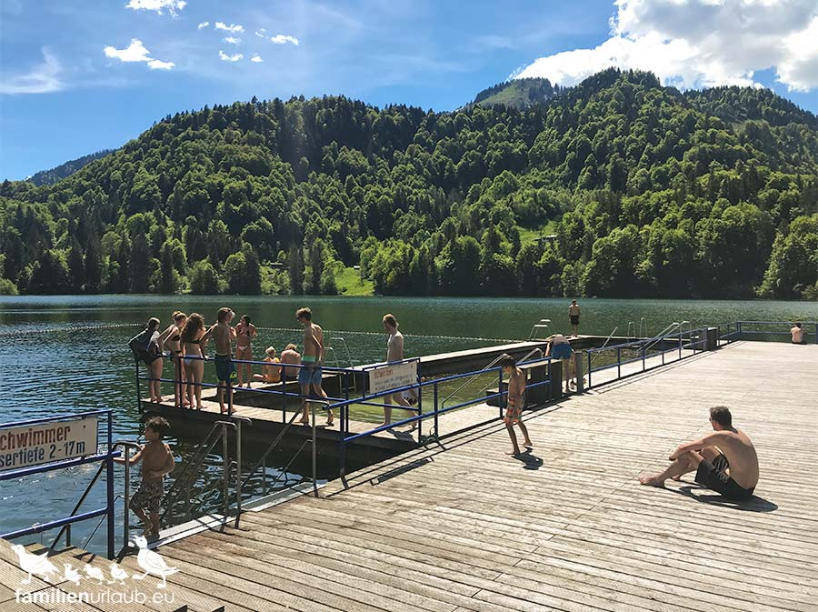 Badespaß am Freibergsee