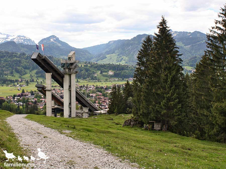 Skisprungschanze in Oberstdorf