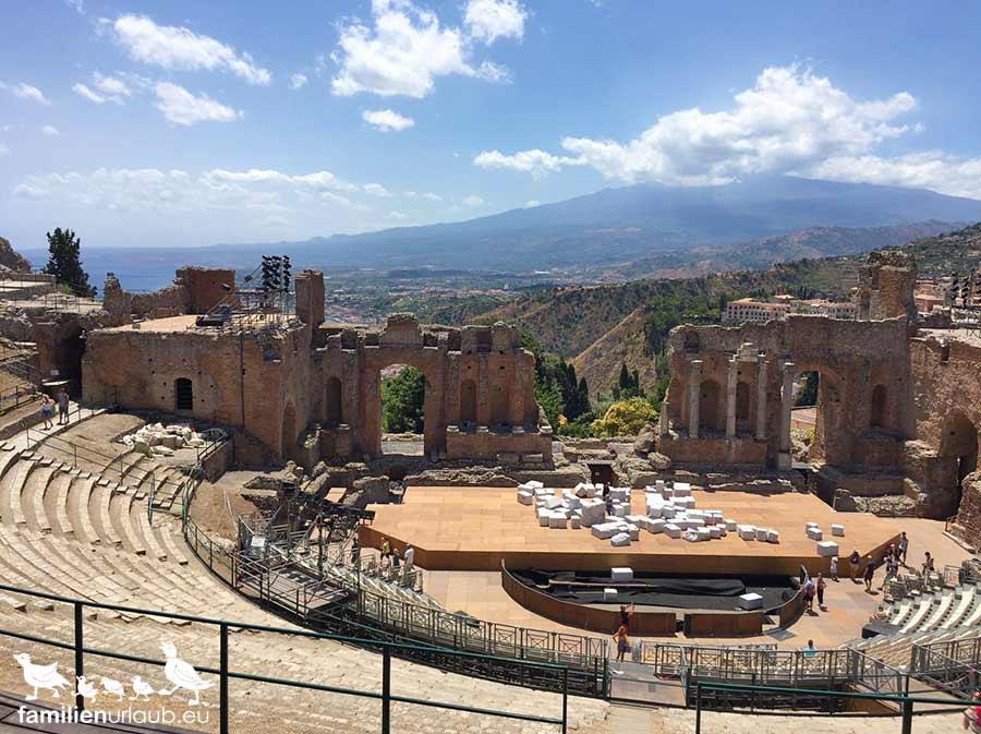 Sizilien Taormina Amphitheater