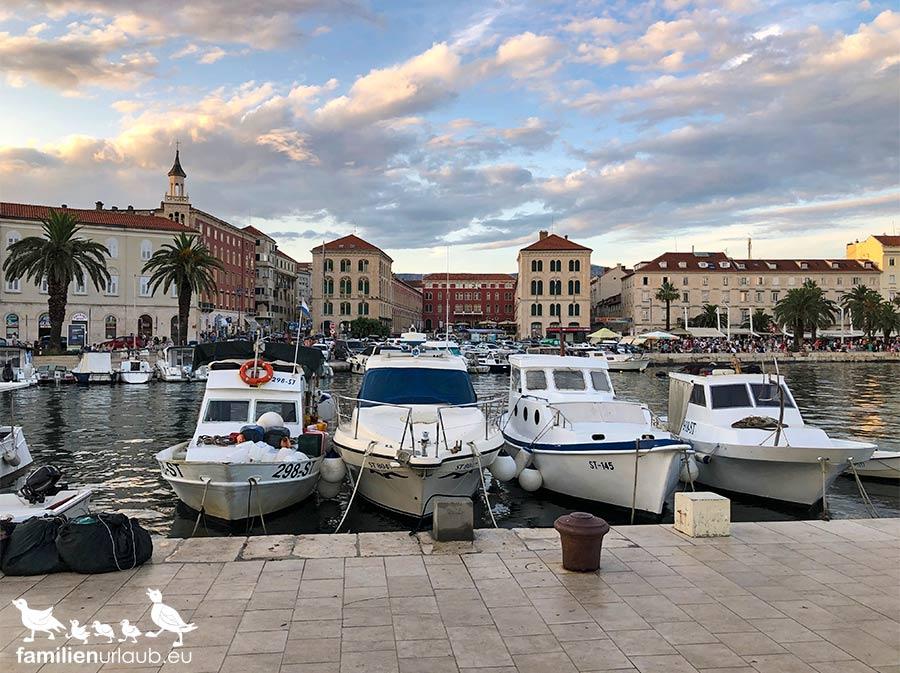 Split Hafen Boote