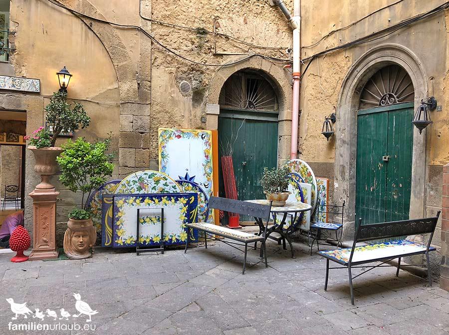 Sizilien Caltagirone Keramik